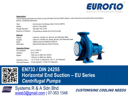 Horizontal End Suction - Centrifugal Pumps