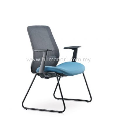ALAMO VISITOR LOW BACK ERGONOMIC MESH CHAIR FIXED ARMREST C/W EPOXY BLACK CANTILEVER BASE AM8713N-96EA72