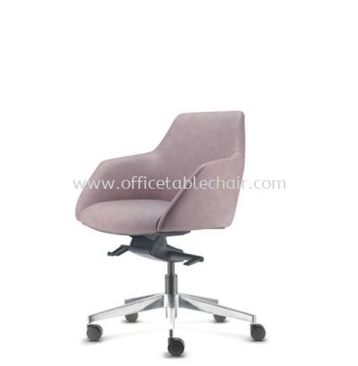 ANTHOM EXECUTIVE LOW BACK LEATHER CHAIR C/W ALUMINIUM BASE AT6613L-16