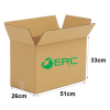 A004 - Medium Size Carton Box (51cmLx26cmWx33cmH/Single-Wall) Medium Size Carton Box Ready Made Boxes