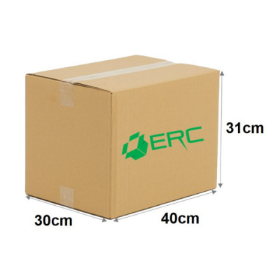 A002 - Medium Size Carton Box (40cmLx30cmWx31cmH/Single-Wall)