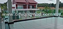 Stainless Steel Balcony Railing With 12mm Tempered Glass Unleash The Beauty Of Your House  Stainless Steel Glass Railing