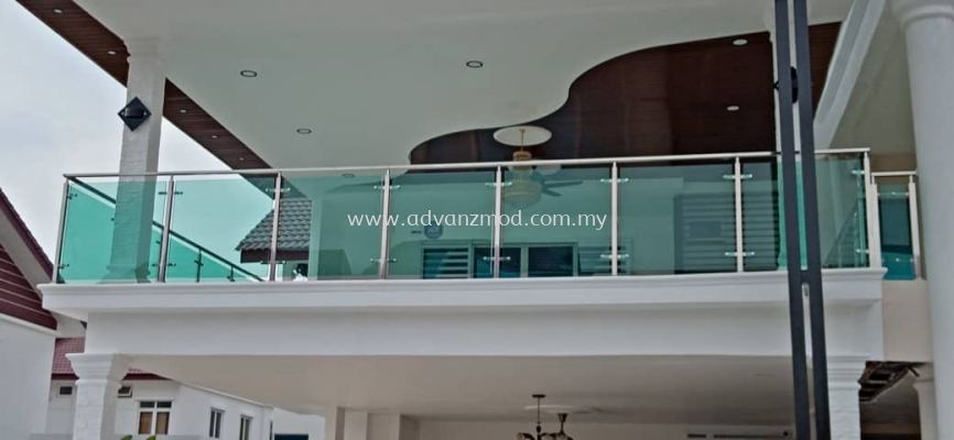 Stainless Steel Balcony Railing With 12mm Tempered Glass Unleash The Beauty Of Your House