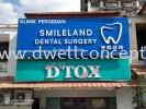 3D LED front & backlit signboard 3D Box Up Lettering