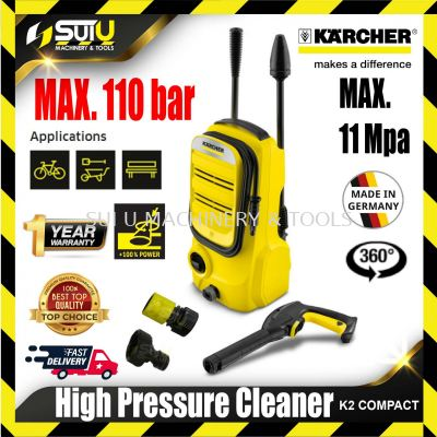 KARCHER K2 COMPACT (NEW MODEL) KARCHER K2 COMPACT HIGH PRESSURE WASHER WATERJET CLEANER WATER JET WATER PUMP 110bar 1400w