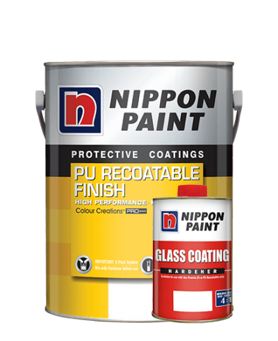 Nippon Pu Recoatable Finish + Glass Coating Hardener
