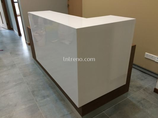 Office reception counter and design in Sunway