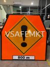 VSAFEMKT JKR TEMPORARY TRAFFIC SIGN  MHA Standard Temporary Warning Road Sign