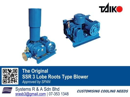 SSR 3 Lobe Roots Type Blower