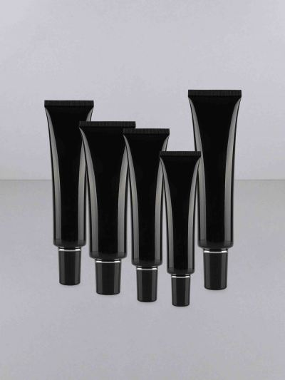 F011 Black - 10ml,15ml,20ml,30ml,40ml (Long Black Cap)