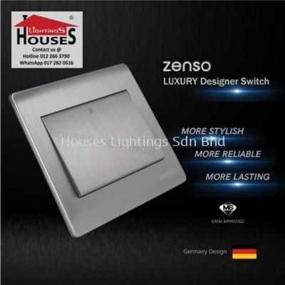 Zenso - Metallo Series Intermadiate Switch - Aluminium Silver S1026