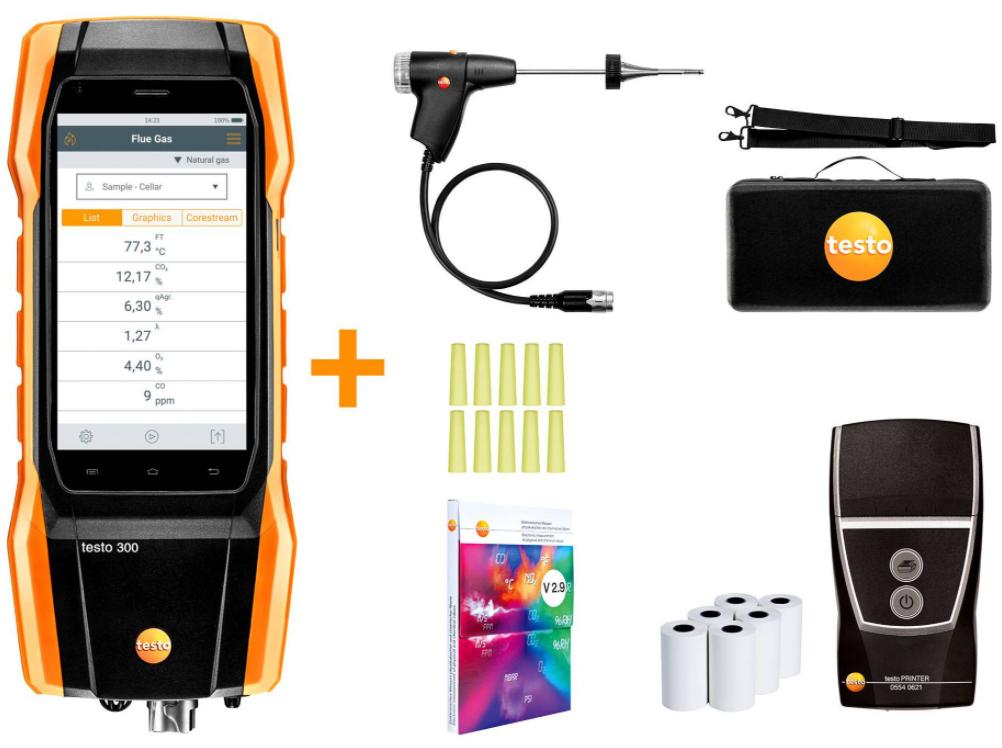 TESTO 300 Longlife Kit 1 with printer - Flue gas analyzer
