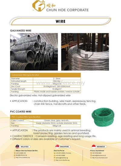 Galvanized Wire & PVC Wire