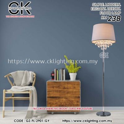 CK LIGHTING SIMPLE. MODERN. ELEGANT. LUXURY. FLOOR LAMP (GZ-FL-2901-GY)