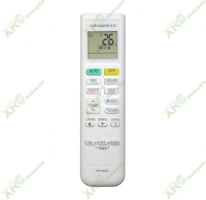 ARC480A1 DAIKIN AIR CONDITIONING REMOTE CONTROL