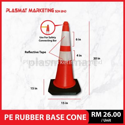 PE Rubber Base Cone