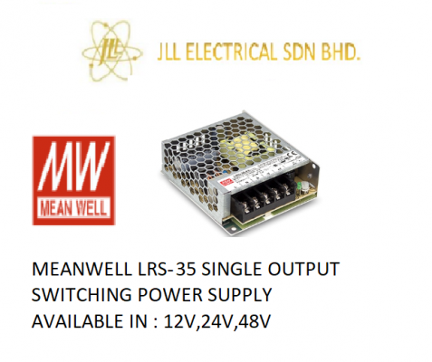 MEANWELL LRS-35 12V 3AMP SINGLE OUTPUT SWITCHING POWER SUPPLY