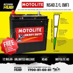 NS40ZL Century Marathoner MF Car battery Bateri kereta [ MYVI ALZA CITY JAZZ BRV ]