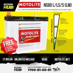 NS60S /L /LS Motolite Wet Car battery Bateri kereta [ Proton Saga Wira BLM FL CIVIC ]