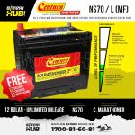 NS70/L Century Marathoner MF Car battery Bateri kereta [ Perdana Chery Wira Waja Camry Exora Unser A