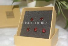 Magmar Red Round Button