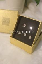 Silver Square Button