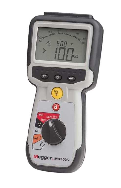 MEGGER MIT400/2 Series CAT IV Insulation Testers for Electrical and Industrial Maintenance Engineers