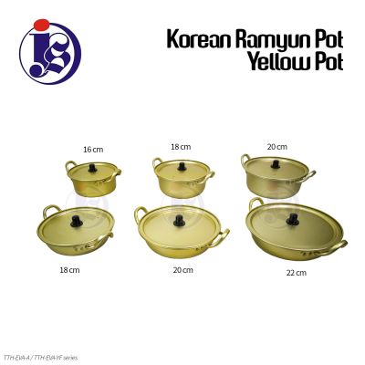 Korean Ramyun Pot Yellow Pot