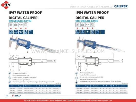 DASQUA IP67 Water Proof Digital Caliper / IP54 Water Proof Digital Caliper