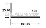 UA2510213 Aluminium Angle(Unequal)