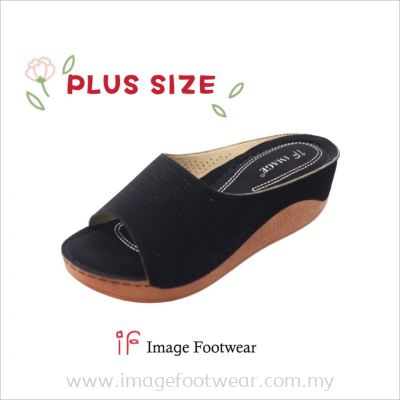 PlusSize Women 2 inch Wedges- PS-880-1 BLACK Colour