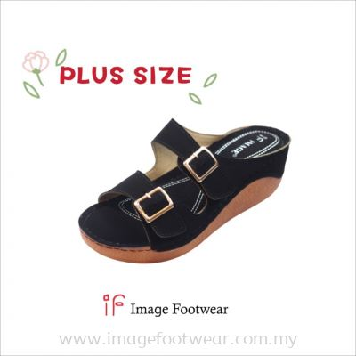 PlusSize Women 2 inch Wedges- PS-880-49 BLACK Colour
