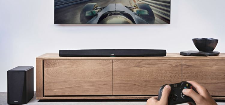 DENON DHT-S516H Sound Bar and Wireless Subwoofer with HEOS Built-in