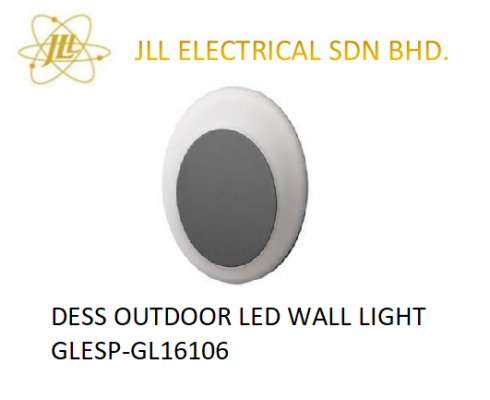 DESS OUTDOOR LED WALL LIGHT GLESP-GL16106