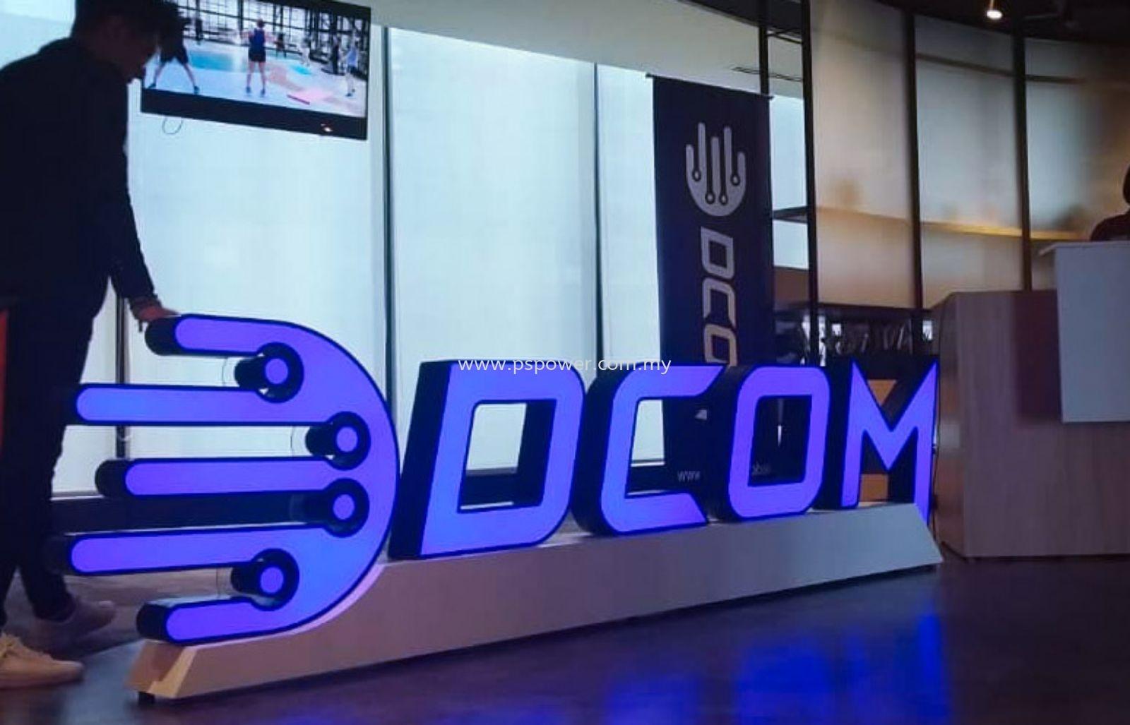 LED Front Lit Signage - Floor Standing Logo Display