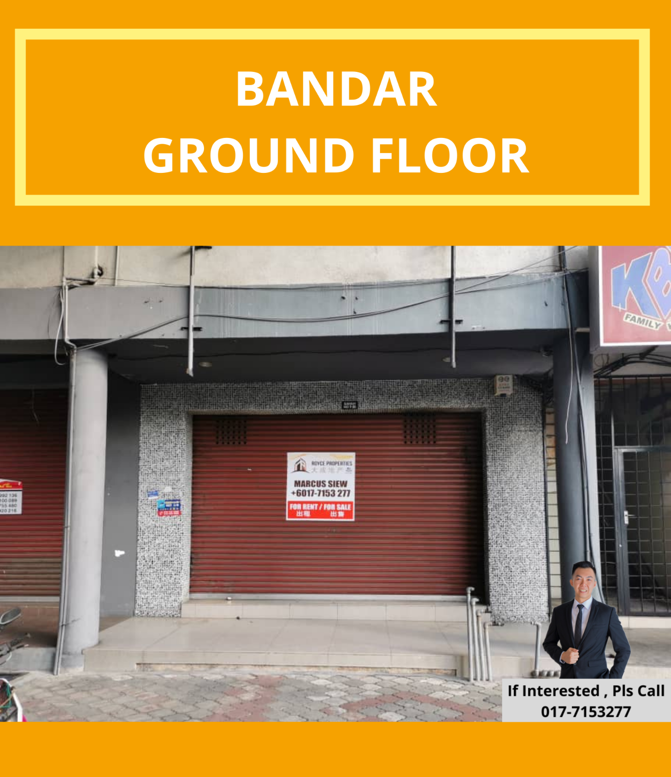 Kluang Bandar Shoplot (Ground Floor)