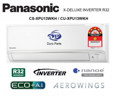 Panasonic 1.5HP X-Deluxe Inverter Air Conditioner R32 Series with nanoe™ Technology CS-XPU13WKH