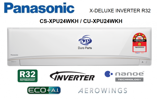 Panasonic 2.5HP X-Deluxe Inverter Air Conditioner R32 Series with nanoe™ Technology CS-XPU24WKH