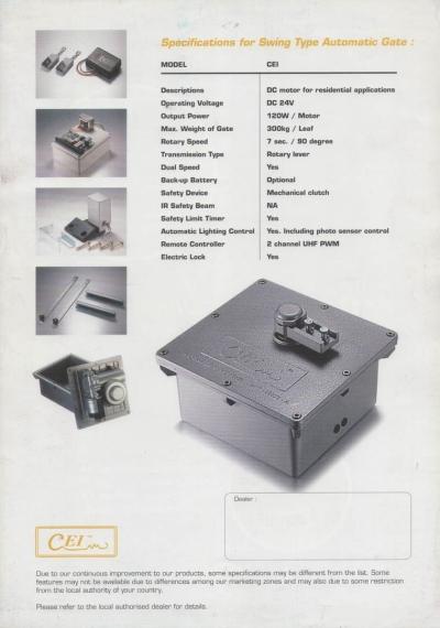 CEI Underground Autogate System
