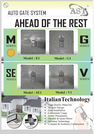 AST M /G /SE/V SERIES Underground Auto Gate System