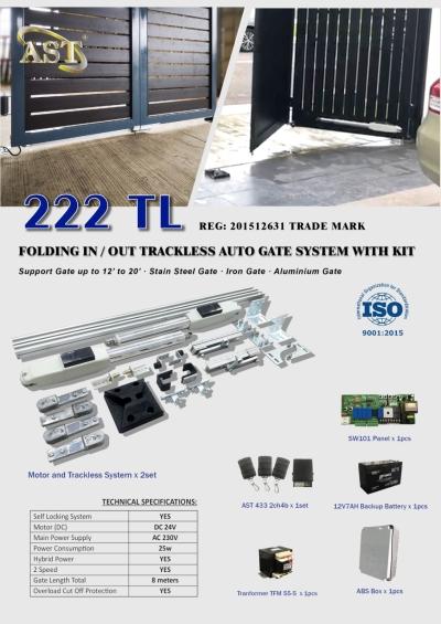AST 222 TL TRACKLESS FOLDING GATE