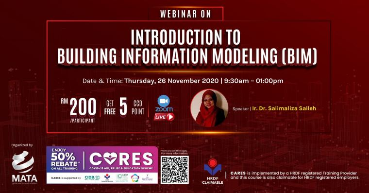 Webinar on: Introduction to Building Information Modelling (BIM)
