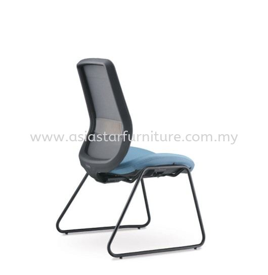 ALAMO VISITOR LOW BACK MESH CHAIR WITHOUT ARMREST C/W EPOXY BLACK CANTILEVER BASE AM8714N-96E
