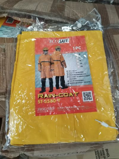 Heavy Duty Visibility Raincoat with High Reflective Strip