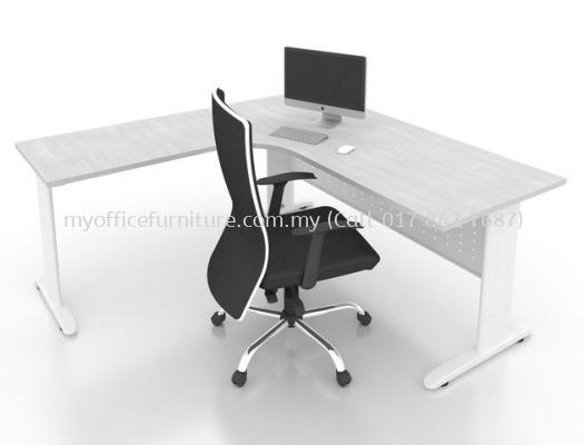 L-SHAPE TABLE C/W J LEG (RM 559.00/UNIT)