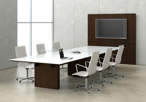 CRC4800 Chipboard Leg with Rectangular Meeting Table 4800W x 1500D x 750H mm (White)