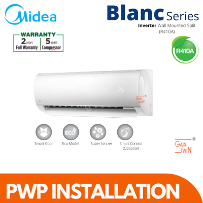Midea 2.5hp Non Inverter All Easy Series R410 (PWP Installation)