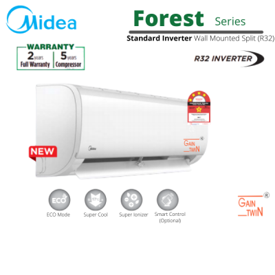 Midea 1.5hp Inverter R32 Wall Mounted MSAF-12CRDN8