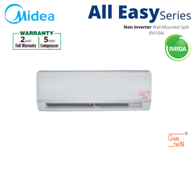Midea 2.5hp R410A Wall Mounted Non Inverter MSAE-25CRN1