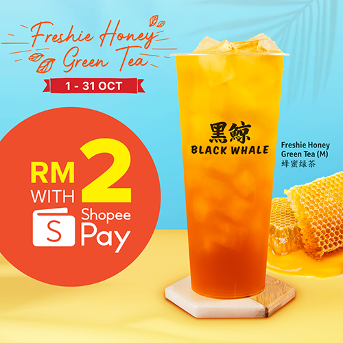 Freshie Honey Green Tea only RM2!